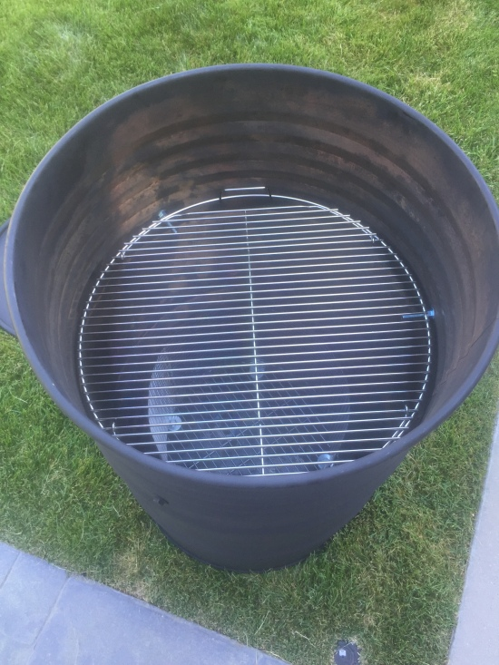 The cooking grate for the ugly drum smoker